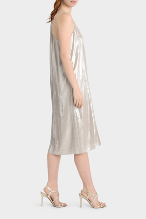 Piper - Metallic Slip Dress