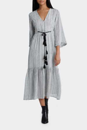 Piper - Textured Striped Dress