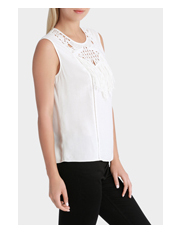 Grab - Sleeveless Top with Crochet Neck Detail