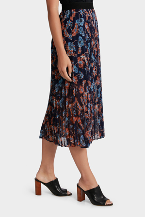 Grab - Midi Skirt Print Pleat