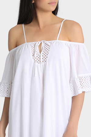 Grab - Cold Shoulder Lace Dress