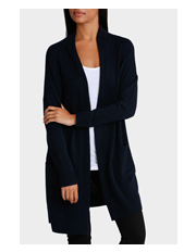 Piper Petites - Longline Cardigan with Rib Detail