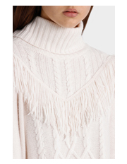 Piper Petites - Cable and Fringe Detail Sweater