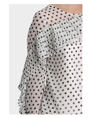 Piper Petites - Spotted Top with Pleat details