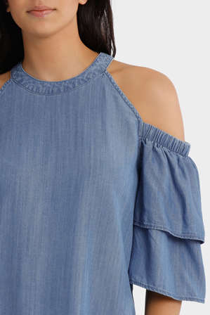 Piper Petites - Top cold shoulder tencel
