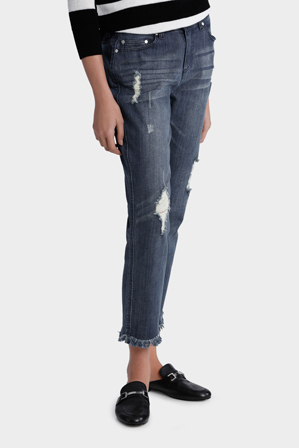 Piper Petites - Jean Stepped hem with embroidery
