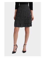 Piper Petites - Skirt double ruffle spot small