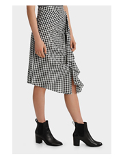 Piper Petites - Ruffle Gingham Skirt