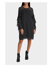 Piper Petites - Dress long Sleeve Pleat Details