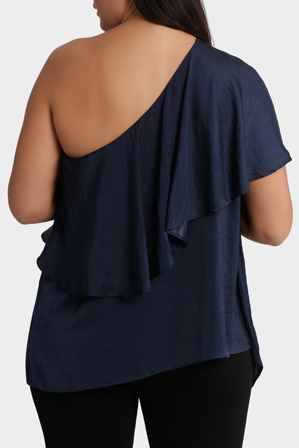 Mink Denim - One Shoulder Top