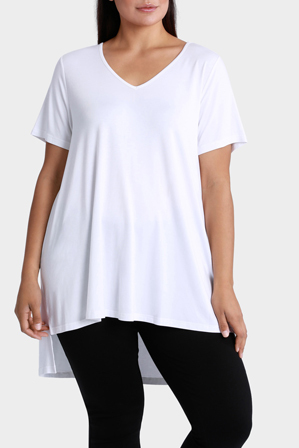 Mink Denim - Vee Neck T-shirt