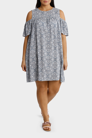 Mink Denim - Cold Shoulder Dress