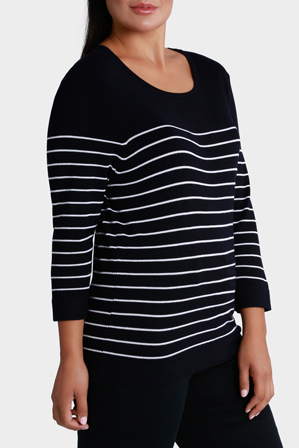 Regatta Woman - Thin Stripe 3/4 Sleeve Jumper
