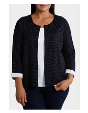 Regatta Woman - Jacquard Spot 3/4 Sleeve Cardigan