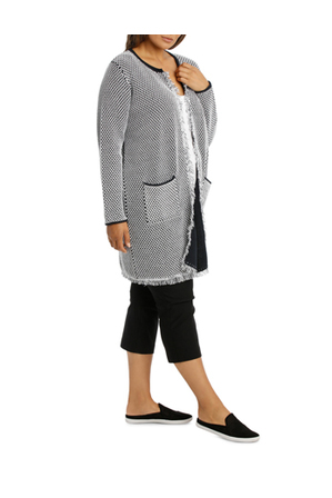 Regatta Woman - Two Tone Longline 3/4 Sleeve Cardigan