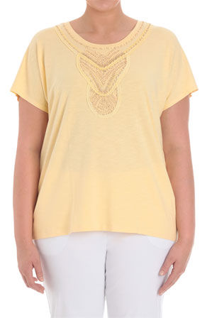 Regatta Woman - Round Neck Short Sleeve Slub T-Shirt With Beaded Neckline