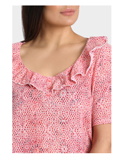 Regatta Woman - Mosaic Frill Neck Sleeve Burnout Tee