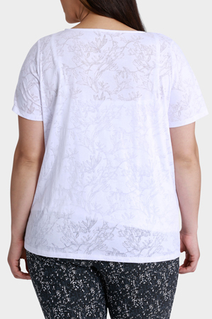 Regatta Woman - Floral Double Layer Burnout Short Sleeve Tee