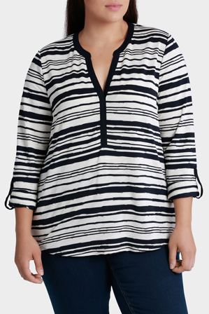 Regatta Woman - Textured Stripe 3/4 Sleeve Tee