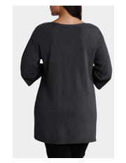 Basque Woman - Split Hem Knitwear Tunic