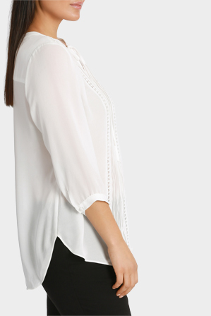 Basque Woman - Boho 3/4 sleeve blouse