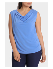 Basque Woman - Cowl Neck Jersey Tee