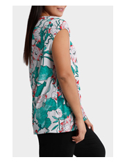 Basque Woman - Whimsical Lily Pleat Front Top