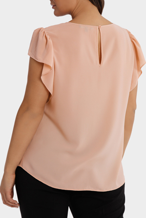 Basque Woman - Flutter Sleeve Top