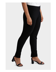 Basque Woman - Ponte Seam Detail Pull On  Slim Legging