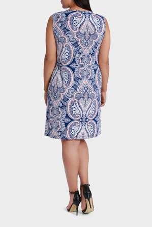 Basque Woman - Paisley Jersey Shift Dress