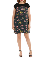 Basque Woman - Bird Of Paradise Print Shift Dress