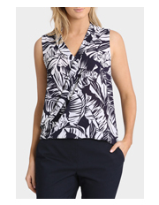 Jane Lamerton - Palm Print Wrap Blouse