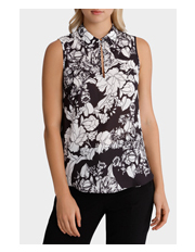 Jane Lamerton - Floral Collared Soft Blouse