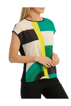 Jane Lamerton - Colour Block Top