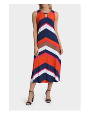 Jane Lamerton - Jersey Chevron Stripe Midi Dress