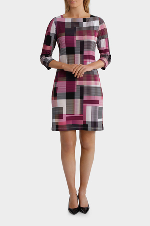 Jane Lamerton - Cutabout Stripe Wrap Jersey Dress