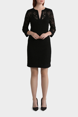 Trent Nathan - Lace 3/4 Sleeve Shift Dress