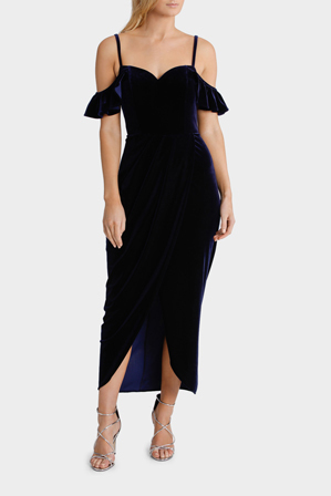 Wayne Cooper Events - Velvet Drape Front Dress