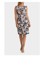 Trent Nathan Events - Foil Flora Stretch Jacquard Dress