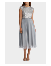 Wayne Cooper Events - Beaded/Sequin Bodice Dress with Tulle Skirt