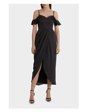 Wayne Cooper Events - Drape Dress With Cross Front Detail