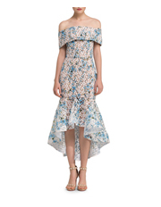 Bronx & Banco - Off-Shoulder Lace Fitted Dress