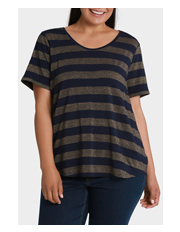 Regatta Woman - Lurex Wide Stripe Short Sleeve Tee
