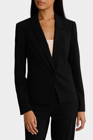 Basque Petites - Essential One Button Suit Jacket