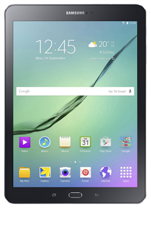 Samsung galaxy tab s2 97in 64gb wifi black myer online enjoy viewing incredibly vibrant colours and crystal clear clarity on the galaxy tab s2 super amoled display its thin light design and 12 hour battery ccuart Image collections