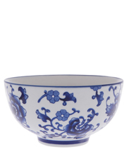Blue Collage Floral 15cm Bowl