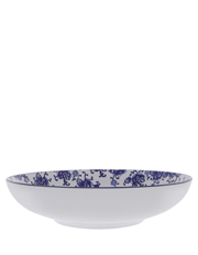 Blue Collage Floral 34.5cm Bowl