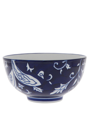 Blue Ornamental Floral 15cm Bowl
