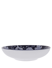 Blue Ornamental Floral 34.5cm Bowl