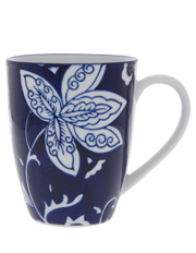 Blue Ornamental Floral Mug